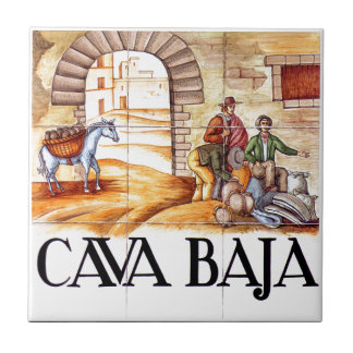 Cava Baja, Madrid Street Sign Tile