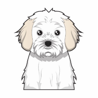 Cavachon Cartoon Standing Photo Sculpture