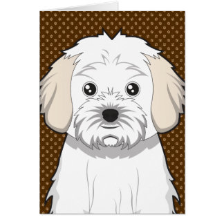 Cavachon Dog Cartoon Paws Card