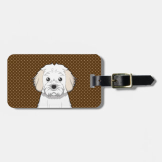 Cavachon Dog Cartoon Paws Luggage Tag