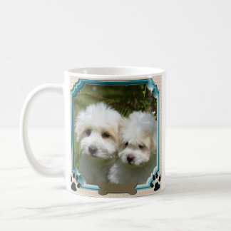 Cavachon Mug, Customized Dog Photo Coffee Mug
