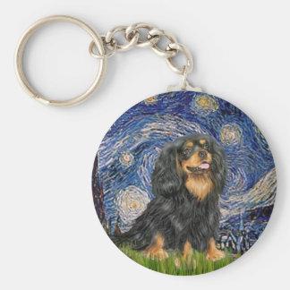 Cavalier (BT) - Starry Night Basic Round Button Keychain