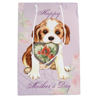 Cavalier Heart Mom Medium Gift Bag