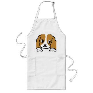 cavalier kcs peeking blenheim long apron