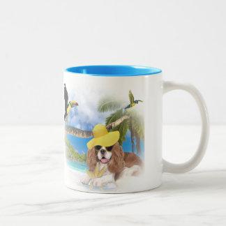 Cavalier King Charles Beach Fun Mugs