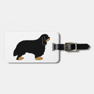 Cavalier King Charles black and tan silo Luggage Tag