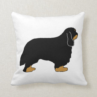 Cavalier King Charles black and tan silo Throw Pillow
