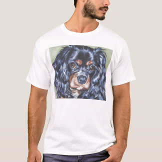 cavalier king charles black and tan  t shirt