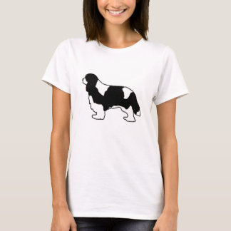 Cavalier King Charles black and white silo T-Shirt