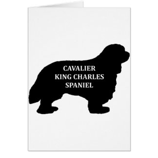 Cavalier King Charles name silo Card