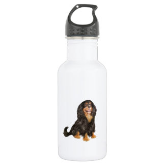 Cavalier King Charles (R) - Black and tan.png 532 Ml Water Bottle
