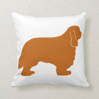 Cavalier King Charles ruby silo Throw Pillow