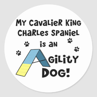 Cavalier King Charles Spaniel Agility Dog Classic Round Sticker