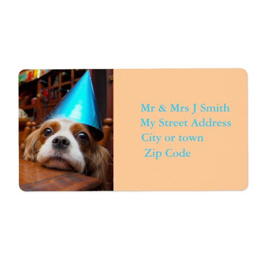 Cavalier King Charles Spaniel Birthday Label Shipping Label