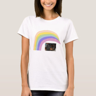 Cavalier King Charles Spaniel Black & Tan Rainbow  T-Shirt