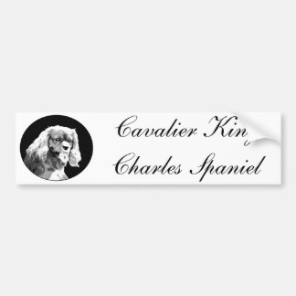 Cavalier king charles spaniel bumpersticker bumper sticker