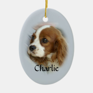 Cavalier King Charles Spaniel Ceramic Oval Ornament