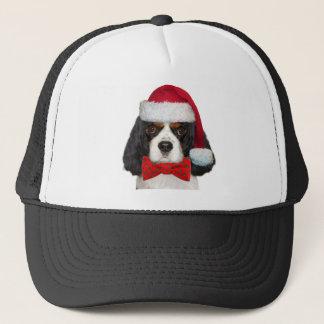 Cavalier King Charles Spaniel Christmas Kisses Trucker Hat
