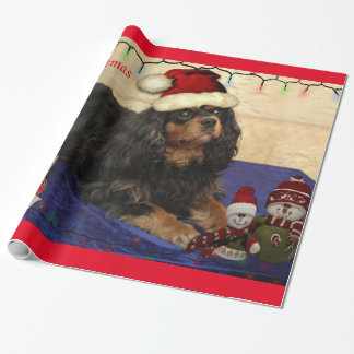 Cavalier King Charles Spaniel Christmas wrap Wrapping Paper