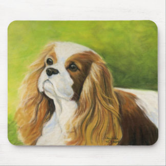 """Cavalier King Charles Spaniel"" Dog Art Mouse Pad"