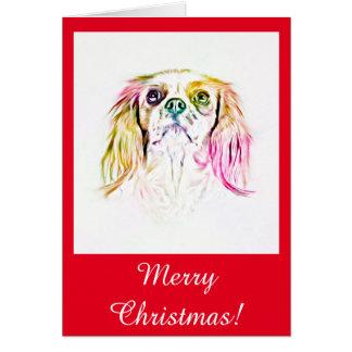 Cavalier King Charles Spaniel Dog Art Painting Card