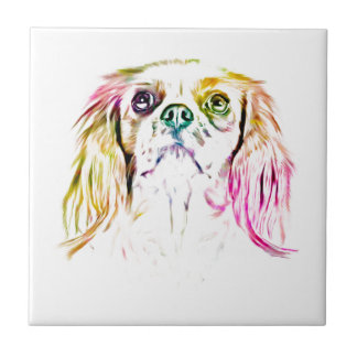 Cavalier King Charles Spaniel Dog Art Painting Ceramic Tiles