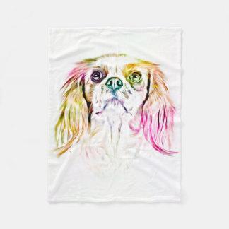 Cavalier King Charles Spaniel Dog Art Painting Fleece Blanket