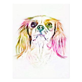 Cavalier King Charles Spaniel Dog Art Painting Postcard
