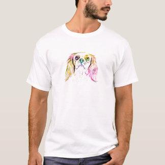 Cavalier King Charles Spaniel Dog Art Painting T-Shirt
