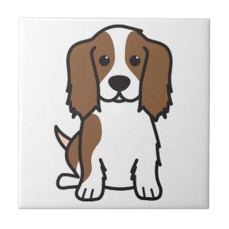 Cavalier King Charles Spaniel Dog Cartoon Tiles