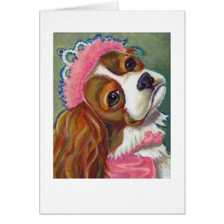 Cavalier King Charles Spaniel Dog Princess ART Card