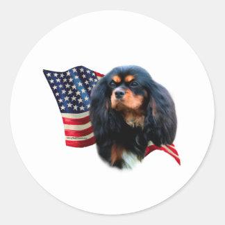 Cavalier King Charles Spaniel Flag Classic Round Sticker
