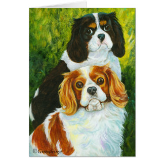 Cavalier King Charles Spaniel Gifts Card