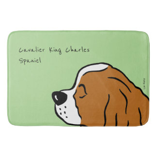 Cavalier King Charles Spaniel Head Bath Mat