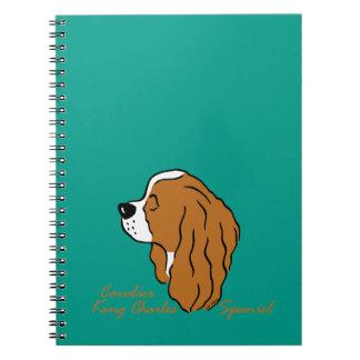 Cavalier King Charles Spaniel head silhouette Notebook