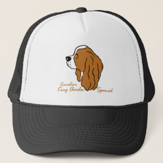 Cavalier King Charles Spaniel head silhouette Trucker Hat
