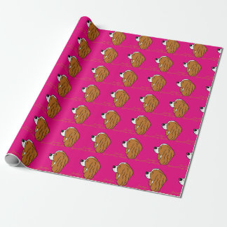 Cavalier King Charles Spaniel head silhouette Wrapping Paper