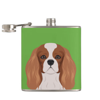 Cavalier King Charles Spaniel Hip Flask
