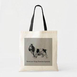 Cavalier King Charles Spaniel Illustrated Tote Bag