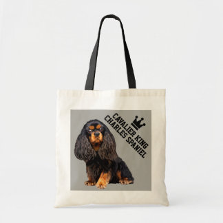 Cavalier King Charles Spaniel Illustrated Tote Bag