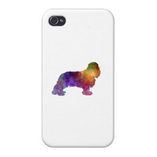 Cavalier King Charles Spaniel in watercolor Cover For iPhone 4