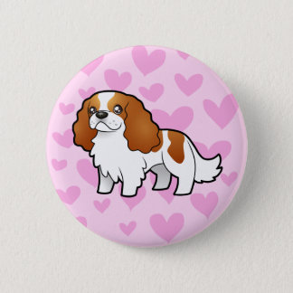 Cavalier King Charles Spaniel Love 2 Inch Round Button