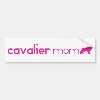 Cavalier King Charles Spaniel Mom Bumper Sticker