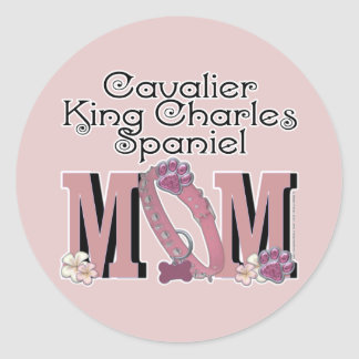 Cavalier King Charles Spaniel MOM Classic Round Sticker