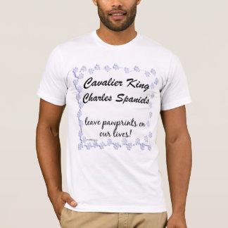 Cavalier King Charles Spaniel Pawprints T-shirt