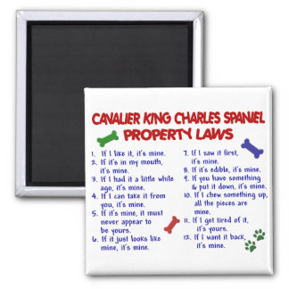 CAVALIER KING CHARLES SPANIEL Property Laws 2 Magnet