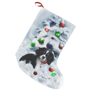 Cavalier King Charles Spaniel Puppy Christmas Small Christmas Stocking