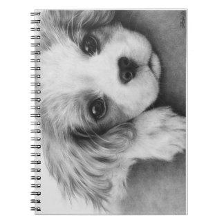 Cavalier King Charles Spaniel Puppy Dog Notebook