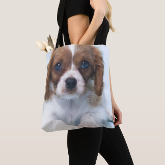 Cavalier King Charles Spaniel Puppy Tote Bag