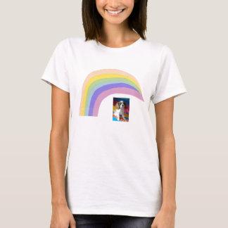 Cavalier King Charles Spaniel Rainbow T-Shirt Blen